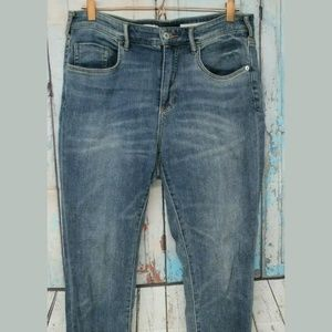 Women's 31 Tall High Rise Skinny Cuffed Jeans